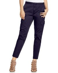 Two By Vince Camuto - Cotton Chino Crop Cargo Pants - Lyst