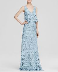 Vera Wang Gown - Sleeveless Chemical Lace Bodice Overlay - Lyst