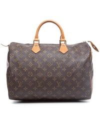 Louis Vuitton Preowned Monogram Canvas Speedy 35 Bag - Lyst