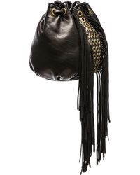Ash - Kimi Leather Drawstring Bag - Lyst
