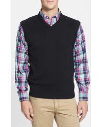 Cutter & Buck 'Broadview' Cotton V-Neck Vest - Lyst