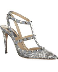 Valentino Silver Lining Collection Rockstud 100 Pump - Lyst