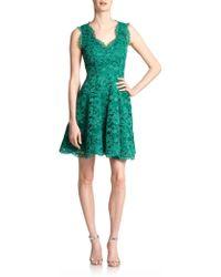 Shoshanna Cindy Flared Lace Dress - Lyst