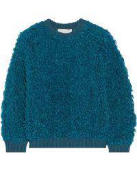 Stella McCartney Wool-trimmed Acrylic-blend Sweater - Lyst