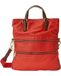 Fossil Explorer Tote red - Lyst