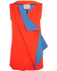 Roksanda Red Origami Pleat Top - Lyst