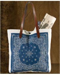 Denim & Supply Ralph Lauren - Bandana Print Leathertrim Convertible Tote - Lyst