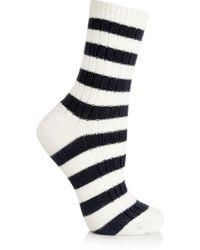 Sonia Rykiel - Striped Knitted Cotton Socks - Lyst