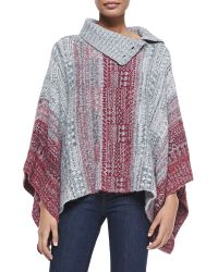 Free People Willow Diamond-knit Poncho - Lyst