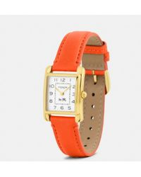 Coach Page Gold Plated Strap Watch - Lyst