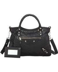 Balenciaga Giant 12 Nickel Town Bag Black - Lyst
