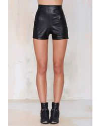 Nasty Gal Vintage On The Rox Leather Shorts - Lyst