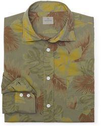 Club Monaco Hartford Overdyed Floral Shirt - Lyst