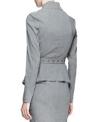 Donna Karan - Belted Linen-blend Suiting Jacket - Lyst