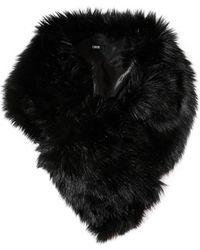 Asos Faux Fur Collar with Slot Through Detail - Lyst
