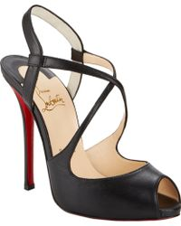 Christian Louboutin Cross Street Sandals - Lyst