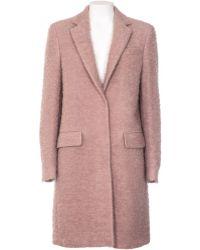 MSGM Cappotto In Lana Vergine E Mohair Rosa Antico pink - Lyst