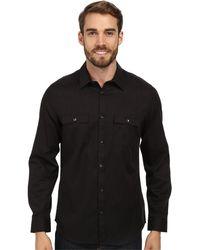 Calvin Klein Heathered Twill Woven Shirt - Lyst