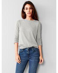 Gap Slub Crew Sweater - Lyst