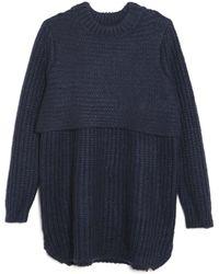 Mason by Michelle Mason Knit Tunic Sweater blue - Lyst