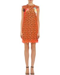 Christopher Kane Appliquéd Guipure Lace Shift Dress - Lyst