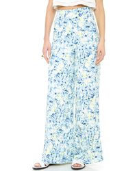 Lovers + Friends - Lovers Friends Willow Trousers Abstract Floral - Lyst