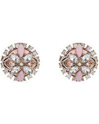 River Island Pink Gemstone Oversized Stud Earrings - Lyst