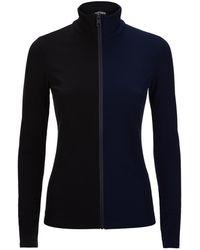 Fendi | Two-tone Zip-up Sweater | Lyst