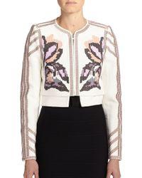 BCBGMAXAZRIA Duke Embroidered Jacket white - Lyst