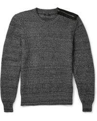 Belstaff Corsley Zipped Cotton Sweater - Lyst