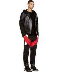 Givenchy Black and Red Lounge Pants - Lyst