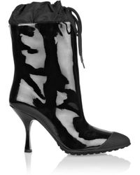 Miu Miu Patentleather Ankle Boots - Lyst