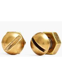 Giles & Brother Men'S Nut & Bolt Cuff Links - Brass - Lyst