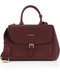Burberry | Textured Leather Satchel | Lyst