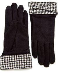 Lauren by Ralph Lauren - Houndstooth Gloves - Lyst