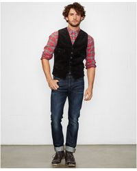 Denim & Supply Ralph Lauren Solid Corduroy Vest - Lyst
