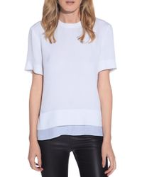 Helmut Lang Short Sleeve Top white - Lyst