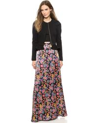 Alice By Temperley Lou Lou Maxi Skirt Black Mix - Lyst