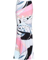 Emilio Pucci Printed Stretch Skirt - Lyst