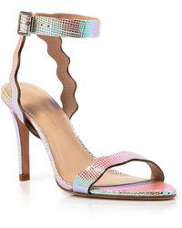 Loeffler Randall Scalloped Iridescent Sandals - Amelia High Heel - Lyst
