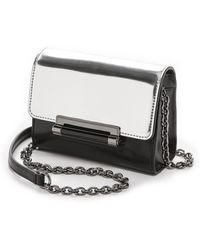 Diane Von Furstenberg 440 Micro Mini Mirror Metallic Bag  - Lyst