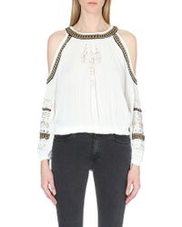 Free People Give Him The Cold Shoulder Jersey Top - Lyst