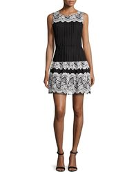 Anna Sui | Floral-lace Fit-&-flare Dress | Lyst