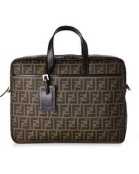Fendi Brown Brown Briefcase - Lyst