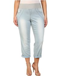 1cb522e7e8b DKNY - Plus Size Sculpted Leggings Rolled Crop In Toned Wash - Lyst