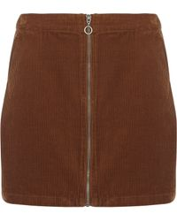 Dorothy Perkins - Corduroy Mini Skirt - Lyst