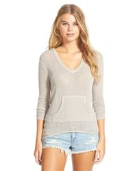 Volcom - 'free To Go' Hooded V-neck Sweater - Lyst
