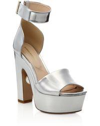 Nicholas Kirkwood | Maya Pearl-detail Metallic Leather Platform Sandals | Lyst