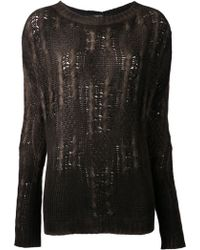Avant Toi Boxy Cable Knit Pullover - Lyst