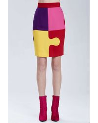 Nasty Gal Vintage Moschino Puzzle Piece Skirt - Lyst